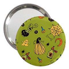 Funny Scary Spooky Halloween Party Design 3  Handbag Mirrors by HalloweenParty