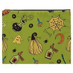 Funny Scary Spooky Halloween Party Design Cosmetic Bag (xxxl)