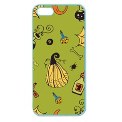 Funny Scary Spooky Halloween Party Design Apple Seamless Iphone 5 Case (color) by HalloweenParty