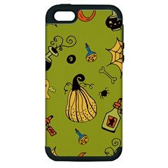 Funny Scary Spooky Halloween Party Design Apple Iphone 5 Hardshell Case (pc+silicone) by HalloweenParty