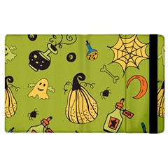 Funny Scary Spooky Halloween Party Design Apple Ipad 3/4 Flip Case by HalloweenParty