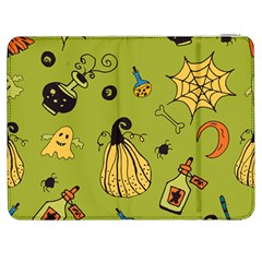 Funny Scary Spooky Halloween Party Design Samsung Galaxy Tab 7  P1000 Flip Case by HalloweenParty