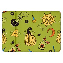 Funny Scary Spooky Halloween Party Design Samsung Galaxy Tab 8 9  P7300 Flip Case by HalloweenParty