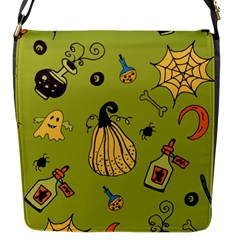 Funny Scary Spooky Halloween Party Design Flap Closure Messenger Bag (s) by HalloweenParty