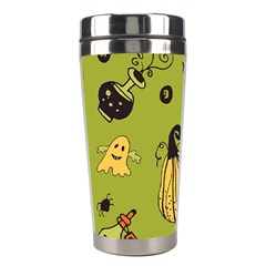 Funny Scary Spooky Halloween Party Design Stainless Steel Travel Tumblers