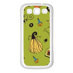 Funny Scary Spooky Halloween Party Design Samsung Galaxy S3 Back Case (white)
