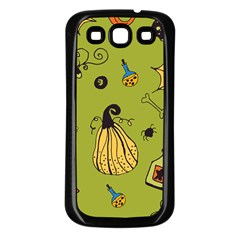 Funny Scary Spooky Halloween Party Design Samsung Galaxy S3 Back Case (black) by HalloweenParty