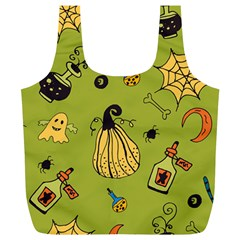 Funny Scary Spooky Halloween Party Design Full Print Recycle Bag (xl)