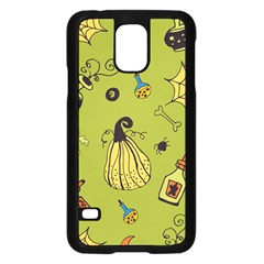 Funny Scary Spooky Halloween Party Design Samsung Galaxy S5 Case (black) by HalloweenParty