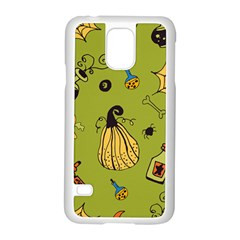 Funny Scary Spooky Halloween Party Design Samsung Galaxy S5 Case (white)