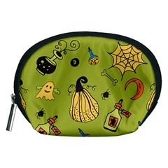 Funny Scary Spooky Halloween Party Design Accessory Pouch (medium) by HalloweenParty