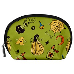Funny Scary Spooky Halloween Party Design Accessory Pouch (large)