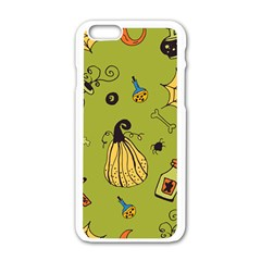 Funny Scary Spooky Halloween Party Design Apple Iphone 6/6s White Enamel Case