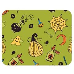 Funny Scary Spooky Halloween Party Design Double Sided Flano Blanket (medium)