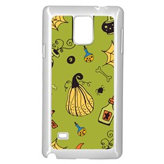 Funny Scary Spooky Halloween Party Design Samsung Galaxy Note 4 Case (white)