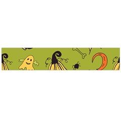 Funny Scary Spooky Halloween Party Design Large Flano Scarf