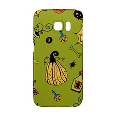 Funny Scary Spooky Halloween Party Design Samsung Galaxy S6 Edge Hardshell Case by HalloweenParty