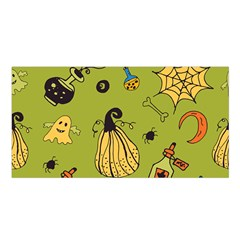 Funny Scary Spooky Halloween Party Design Satin Shawl