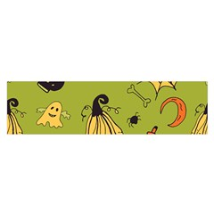Funny Scary Spooky Halloween Party Design Satin Scarf (oblong)
