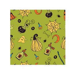 Funny Scary Spooky Halloween Party Design Small Satin Scarf (square)