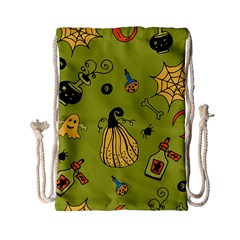 Funny Scary Spooky Halloween Party Design Drawstring Bag (small)