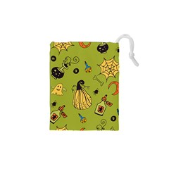 Funny Scary Spooky Halloween Party Design Drawstring Pouch (xs)