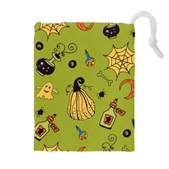 Funny Scary Spooky Halloween Party Design Drawstring Pouch (xl)