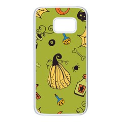 Funny Scary Spooky Halloween Party Design Samsung Galaxy S7 White Seamless Case