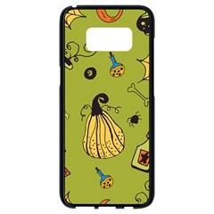 Funny Scary Spooky Halloween Party Design Samsung Galaxy S8 Black Seamless Case
