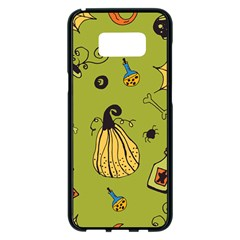 Funny Scary Spooky Halloween Party Design Samsung Galaxy S8 Plus Black Seamless Case