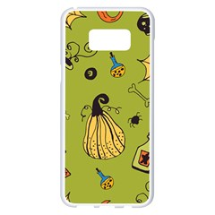 Funny Scary Spooky Halloween Party Design Samsung Galaxy S8 Plus White Seamless Case
