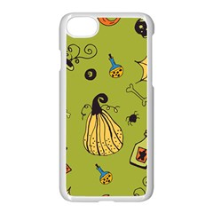 Funny Scary Spooky Halloween Party Design Apple Iphone 8 Seamless Case (white)