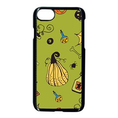 Funny Scary Spooky Halloween Party Design Apple Iphone 8 Seamless Case (black)