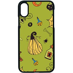 Funny Scary Spooky Halloween Party Design Apple Iphone X Seamless Case (black) by HalloweenParty