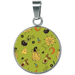 Funny Scary Spooky Halloween Party Design 20mm Round Necklace by HalloweenParty