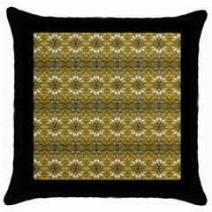 Golden Ornate Pattern Throw Pillow Case (black) by dflcprintsclothing