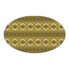 Golden Ornate Pattern Oval Magnet by dflcprintsclothing