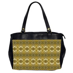 Golden Ornate Pattern Oversize Office Handbag (2 Sides) by dflcprintsclothing