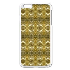 Golden Ornate Pattern Apple Iphone 6 Plus/6s Plus Enamel White Case by dflcprintsclothing