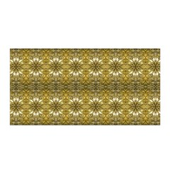 Golden Ornate Pattern Satin Wrap by dflcprintsclothing