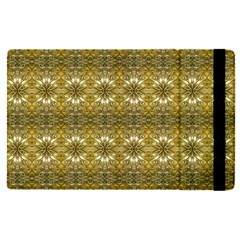 Golden Ornate Pattern Apple Ipad Pro 12 9   Flip Case