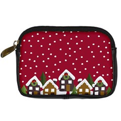 Winter Idyll Digital Camera Leather Case by Valentinaart