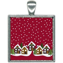 Winter Idyll Square Necklace