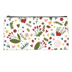 Floral Christmas Pattern  Pencil Cases by Valentinaart