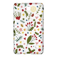 Floral Christmas Pattern  Samsung Galaxy Tab 4 (8 ) Hardshell Case  by Valentinaart