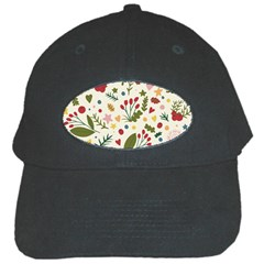 Floral Christmas Pattern  Black Cap by Valentinaart
