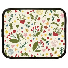 Floral Christmas Pattern  Netbook Case (xxl)