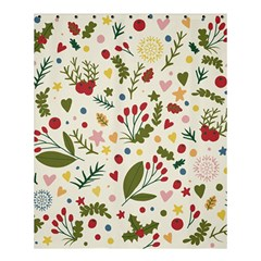 Floral Christmas Pattern  Shower Curtain 60  X 72  (medium)