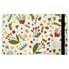 Floral Christmas Pattern  Apple Ipad 3/4 Flip Case by Valentinaart