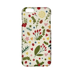 Floral Christmas Pattern  Apple Iphone 6/6s Hardshell Case by Valentinaart